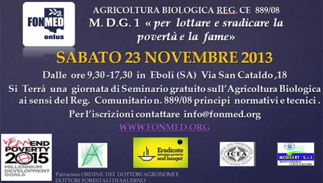Seminario gratuito sull'Agricoltura Biologica