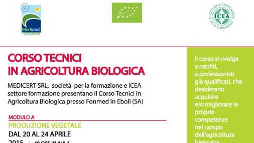 CORSO TECNICI IN AGRICOLTURA BIOLOGICA 2015